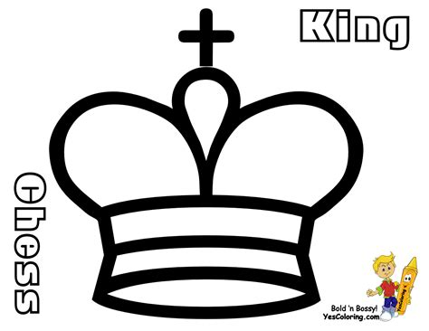 chess king coloring page smooth chess coloring pages to print 1 chess pieces