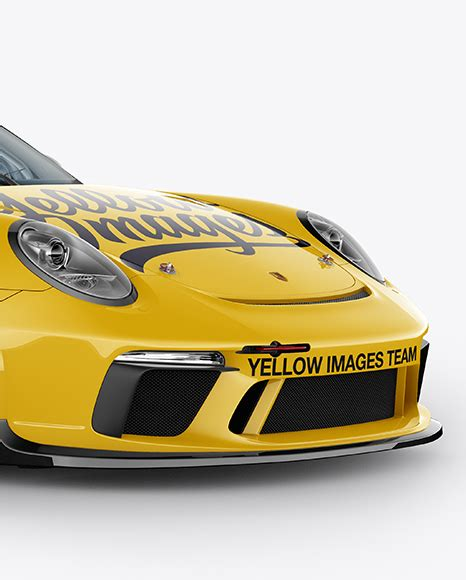 yellow porsche side view porsche 911 gt3 mockup half side view in vehicle mockups