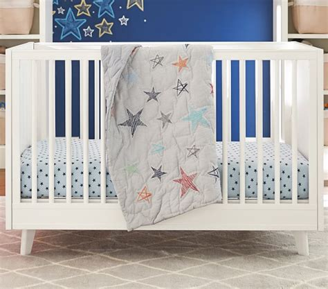 New Jersey Crib by Heathered Jersey Crib Fitted Sheet Pottery Barn