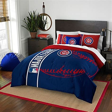 mlb chicago cubs embroidered comforter set bed bath beyond