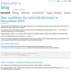 run workflow on all list items workflow sharepoint pearltrees