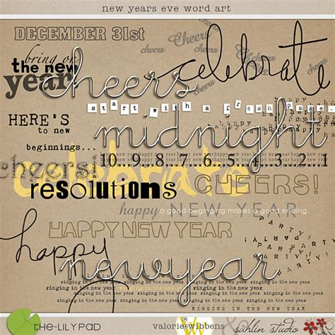 new year words in word digital scrapbooking elements the lilypad