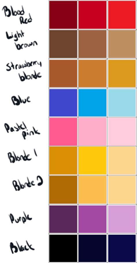 haor color generator hair color palette by poowulpi on deviantart