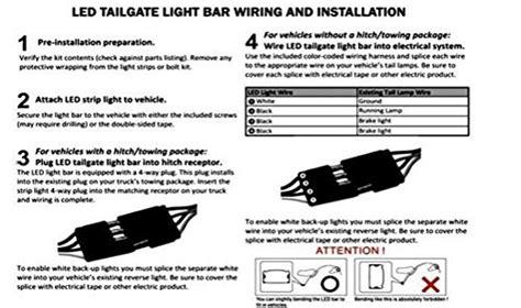 iperfect  redwhite tailgate led strip light bar truck reverse brake turn signal tail