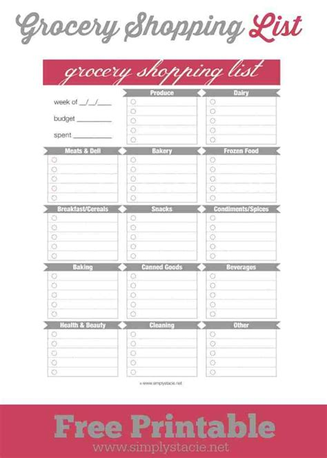 walmart grocery list template search results for printable walmart grocery list