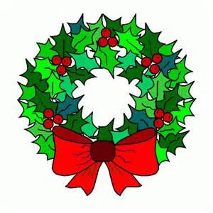 de navidad corona de navidad clipart