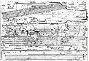 aircraft carrier floor plan model boat plans 1 196 1 315 scale uss kennedy aircraft carrier radio ebay
