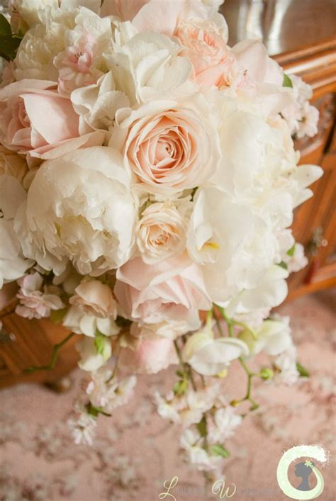 Wedding Flowers Roses by Teardrop Bouquet Of Roses Peonies Blossom And Orchids