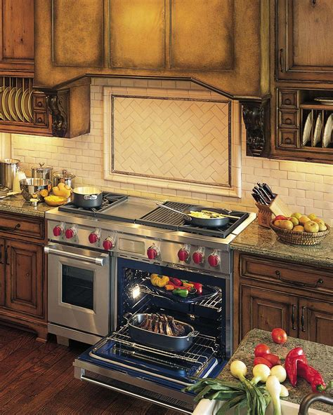 Gas And Electric Cooktop wolf appliance company introduces dual fuel range