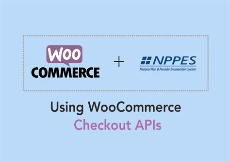 national plan and provider enumeration system nppes woocommerce npi numbers woocommerce checkout apis for nppes