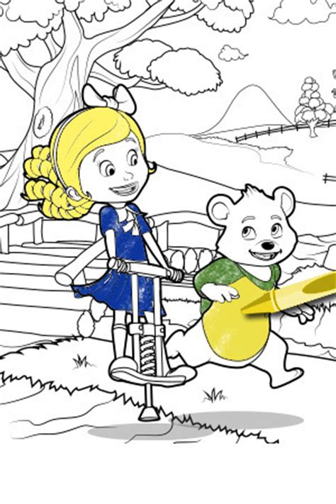 goldie bear coloring pages goldie bear disney australia disney junior
