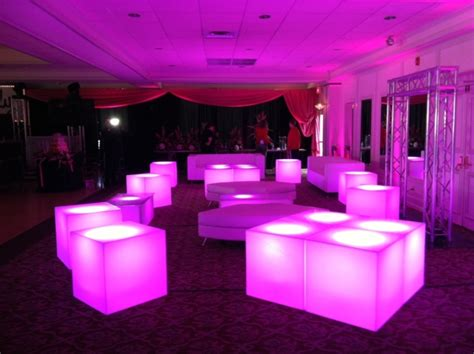 led furniture led furniture aviance event planning and lounge decor nj