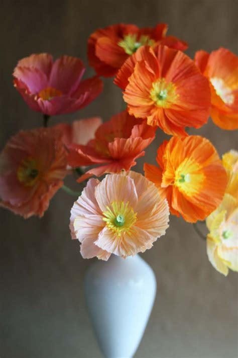 Paper Poppies - diy paper poppies design sponge bloglovin