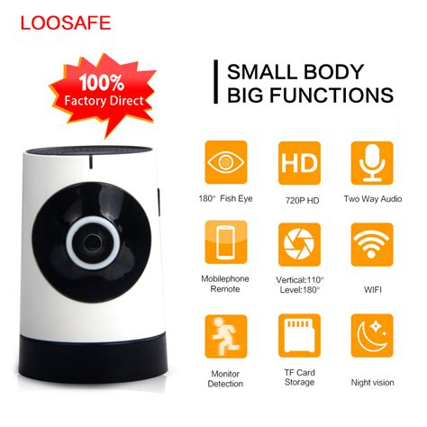 Ip Cctv Wifi P2p 180 Degree Gmc loosafe panoramic fisheye lens ip wifi wireless mini surveillance 180 degree