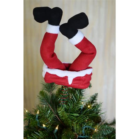 12 quot upside down santa legs tree topper 2514 443