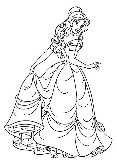 princess pictures to color princess coloring pages for printable free