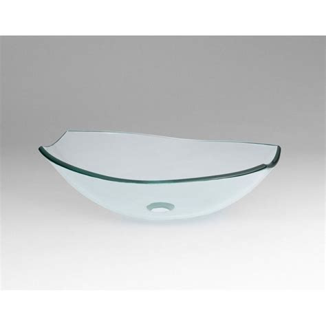 ronbow glass vessel sinks ronbow tael tempered glass vessel bathroom sink in clear