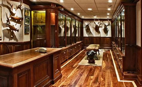 hand  gun cabinet trophy room  cabinetmaker birdie