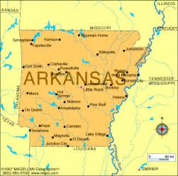 arkansas map and arkansas satellite images