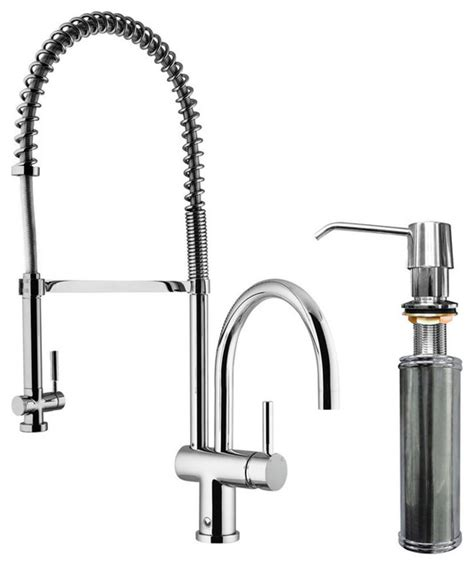 shop houzz vigo industries vigo chrome pull spray