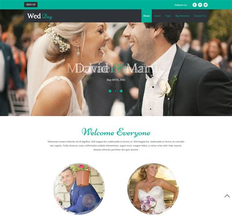 bootstrap themes free wedding the most beautiful wedding html and bootstrap templates