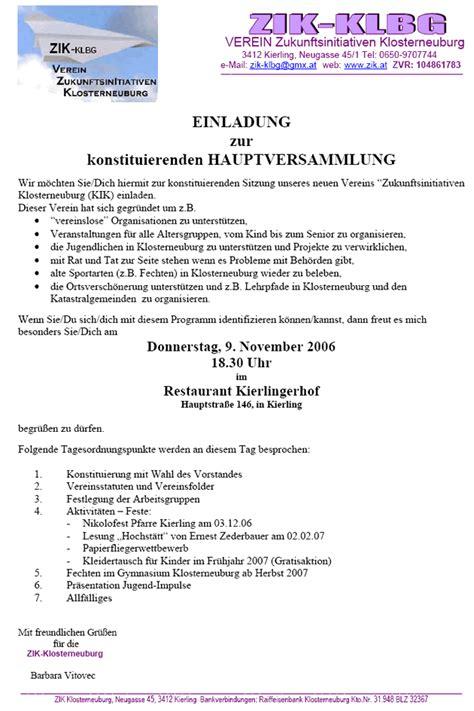 Muster Einladung Generalversammlung Einladung Mitgliederversammlung Verein Muster Thegirlsroom Co
