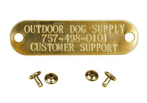collar tags custom brass engraved sted name tag pet id tags for collar ebay