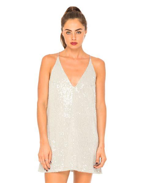 sequins and sunglasses slip on your sequin dress glare motel aurora sequin slip dress in grey topshop asos