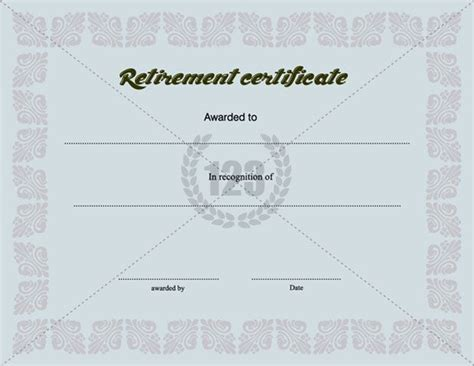 certificate of retirement template retirement certificate template certificate template