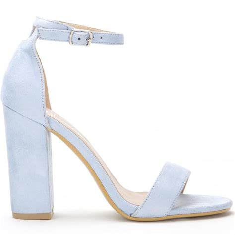 baby blue db57 barely there strappy sandals peep
