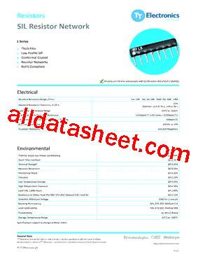sil resistor datasheet l103s104lf datasheet pdf tt electronics