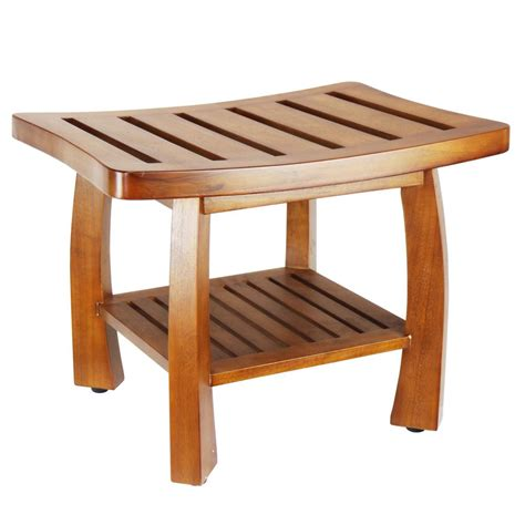 spa benches oceanstar 17 in x 23 75 in solid wood spa bench with