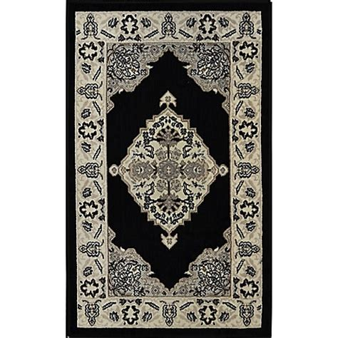 westwood accent rug home dynamix westwood border rug in black bed bath beyond