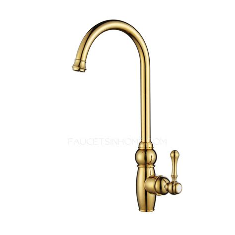 luxury kitchen faucet luxury golden high arc rotate brass kitchen sink faucets