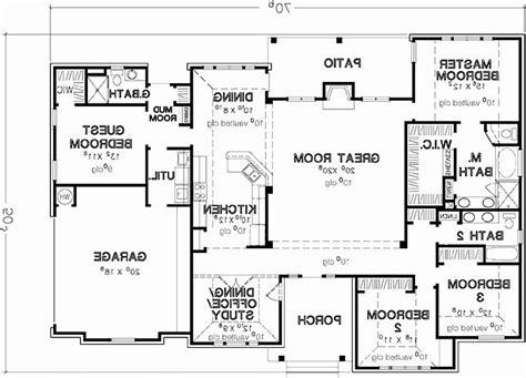 4 bedroom house plans one story no garage luxury 4 bedroom