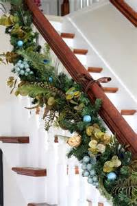 garland ideas top 40 staircase garland designs for christmas christmas celebrations