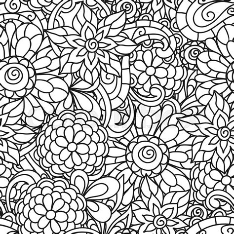 color pattern nature seamless nature pattern with line flowers for adult