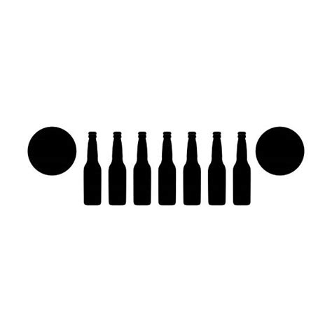 jeep grill decal beer jeep decal with jeep grill jeep beer decal for the