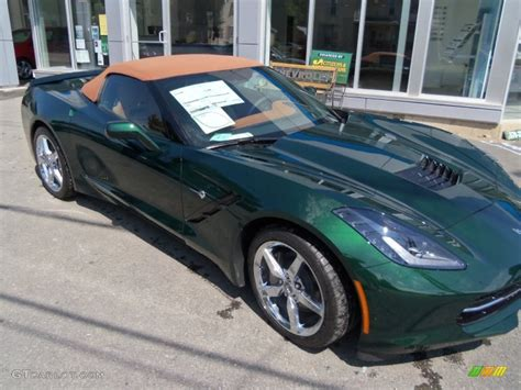 corvette stingray green 2014 lime rock green metallic chevrolet corvette stingray