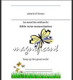 This Certificate Can Be Used For Memorizing A Bible Verse