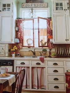 Cottage Style Kitchen Curtains 25 Best Ideas About Country Magazine On Vintage Bathroom Accessories Reuse