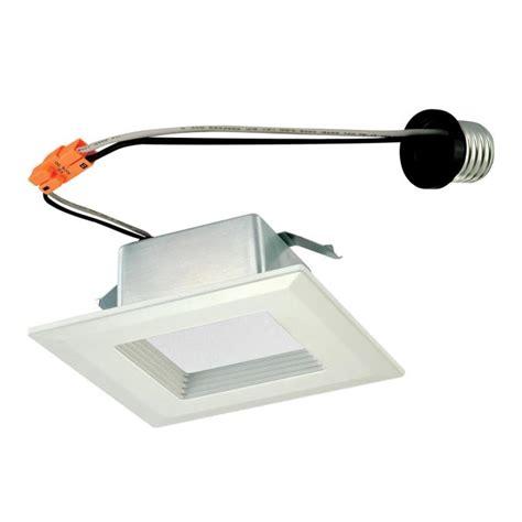 Lu Downlight Led 10 Watt westinghouse 4 inch square recessed led downlight 10 watt 60 watt equivalent medium base warm whit