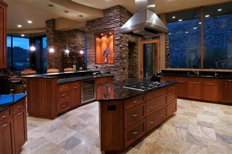 Black Kitchen Island With Stainless Steel Top Innovative Tan Brown Granite Mode Other Metro Contemporary
