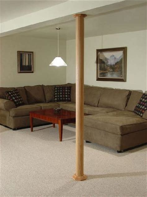 basement wrap pole wrap basement column covers that conceal and beautify