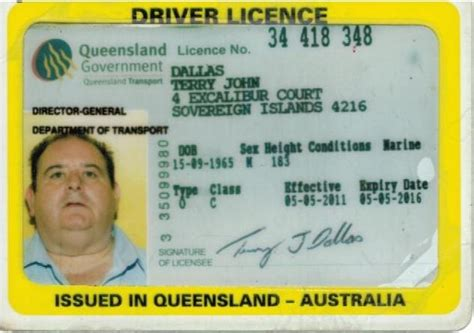 australian id card template drivers license number australia