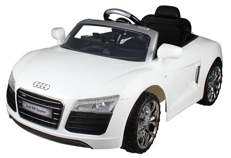 Audi R8 Spyder Electric Car by Fully Licensed White Audi R8 Spyder 12v Electric Car