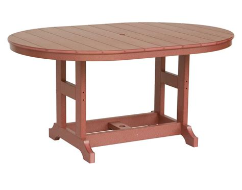 Oval Table L by 64 Quot L X 44 Quot W Garden Classic Sunflower Poly Lumber Oval Table