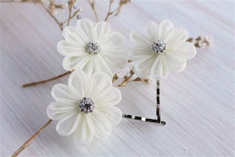 36pcs hair pins bridal flower crystal rhinestone mini hair claws ivory bridal hair pins small hair clips wedding bobby