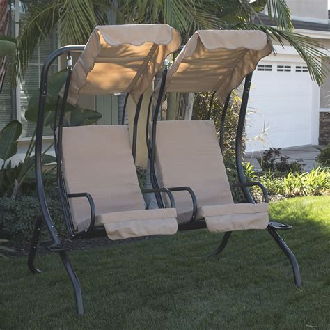 two seater swing seats outdoor furniture new outdoor swing set 2 person patio frame padded seat