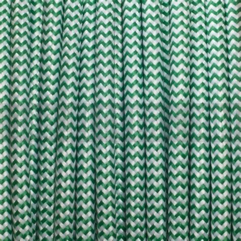 zig zag cable pattern green white zig zag color fabric lighting flex round cable